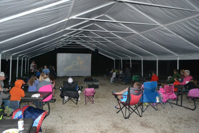 An image of an outdoor movie event.