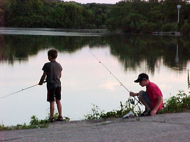 These are two boys going fishing.