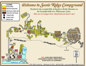 This is a map of the Scenic Ridge Campground.