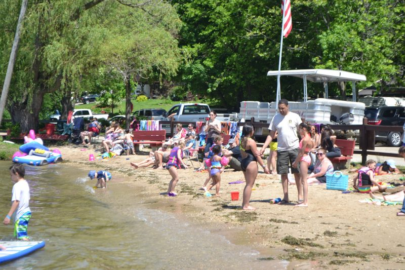 An image of people at the beach.