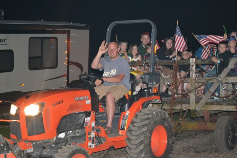 This is an image of a tractor parade.